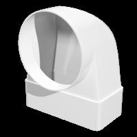 Соединитель угловой 90° плоского воздуховода с круглым Омис (55х110/D100)