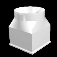 Соединитель центральный прямоугольного воздуховода с круглым Омис (126х126/D125)
