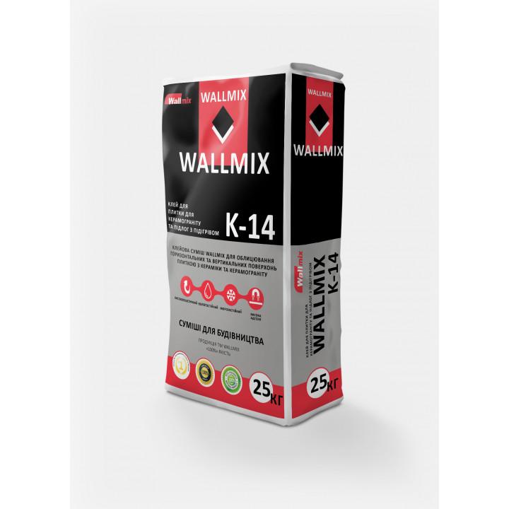 Клей для керамогранита и теплых полов Wallmix К-14 (25кг)
