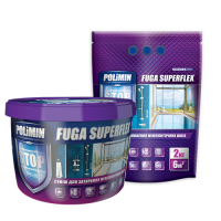 Затирка для швов Полимин FUGA SUPERFLEX (белая) 2кг